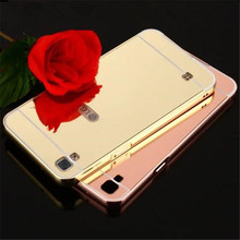 "Mirror Case For LG X Power XPOWER K220DS K220 5.3"" Aluminum Metal case + Acrylic PC Back Phone Cover Case For LG X Power case(China)"