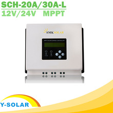 12V 24V 20A 30A LCD MPPT Solar Controller High Eficiency Solar Regulator for Sealed Gel AGM Flooded Lithium Battery SMK Solar(China)