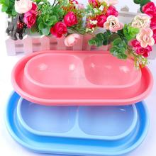 Double Puppy Dog Kitten Cat Anti Ant Bowl Water Feeder Food Dish Feeding Bowl(China)