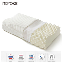 NOYOKE 61*35*12-10 cm Large Particle Massage Natural Latex Pillow Cervical Spine Health Anti-bacterial Anti-mite Bed Pillow(China)