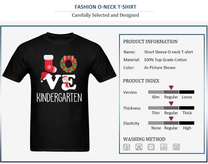 Love Kindergarten Shirt Teacher Christmas Gift_detail_black