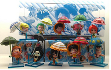 10pcs/set New Japanese Anime One Piece PVC Figure Toy Umbrella Strawhat Luffy Tony Tony Chopper Model Doll OP122