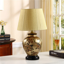 country warm bedlamp European style and modern simple wedding wedding room decoration bedroom bedside lamp ceramic lamp