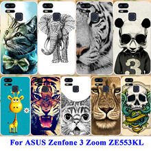 AKABEILA Cell Phone Skins Case For ASUS Zenfone 3 Zoom ZE553KL Z01HDA Cover Hard PC Soft TPU Silicone Cover Painted Phone Shell(China)