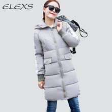 Elexs Winter Jacket Hot Selling Women Parkas Warm and thicken Women Coats Female Long Padded Outerwear TSP1212