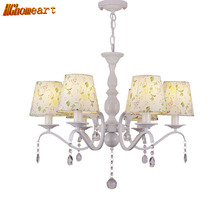 HGHomeart American Pastoral Chandeliers LED Lustre Design Chandelier Lamp  Suspension Living Room Crystals Light 110V/220V