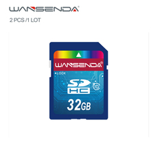 NEW Original Full size Wansenda Real capacity sd card 4G 8G 16G 32G SD Card Memory Card free retail package 2pcs/1Lot