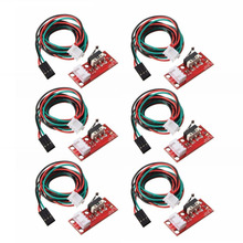 6pcs/set Endstop Mechanical Limit Switch + Cable For 3D Printer RAMPS 1.4(China)