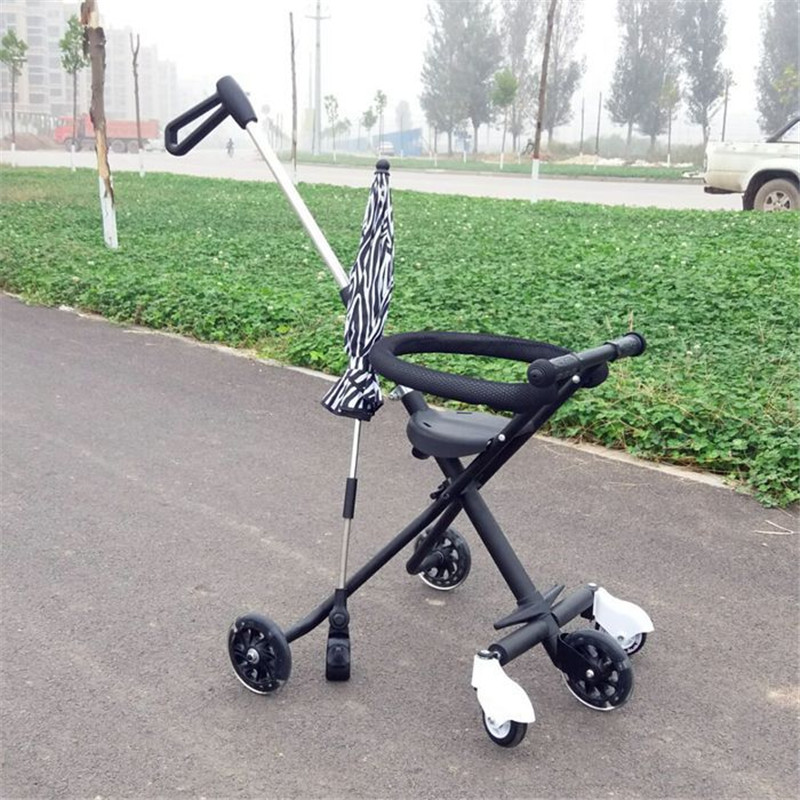 Children\'s Five-Wheeled Baby Anti Rollover Portable Folding Car Mother & Kids Activity & Gear Baby Stroller Lightweight Stroller06