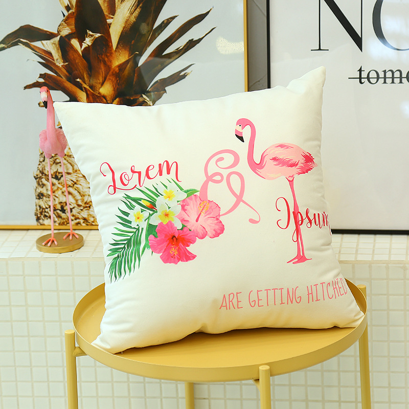 Cute Flamingo Cushion Pillow Case Flamingo Party Bedroom Sofa Home Decoration accessories Birthday/Wedding Favors and Gifts 9
