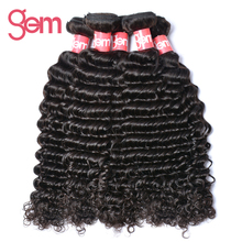 Malaysian Remy Hair Curly Gem Beauty Hair Products 1Pc Hair Extension Can Be Dyed Bleach 100% Human Hair Weave Bundle Free Ship