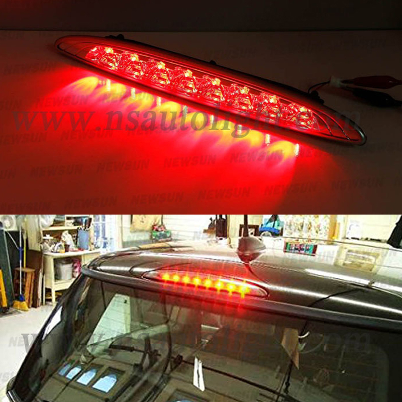 Brilliant Red 8-LED High Mount Third 3rd Brake Light For 02-06 MINI Coo per R50 R53 auto led tail rear brake stop warning light<br><br>Aliexpress