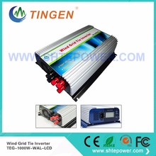 1000W on Grid Tie Wind Power Inverter AC/DC 22V~60V to AC 90V~130V,Dump Load Controller,for 3 Phase Wind turbine(China)