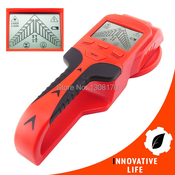 Multi Scanner 3in1 LCD Wall Stud Detector Metal Voltage Cable Wood Finder Portable Live Wire Scanner Tool<br>