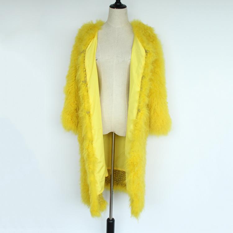 women natural lamb sheep fur coat (14)