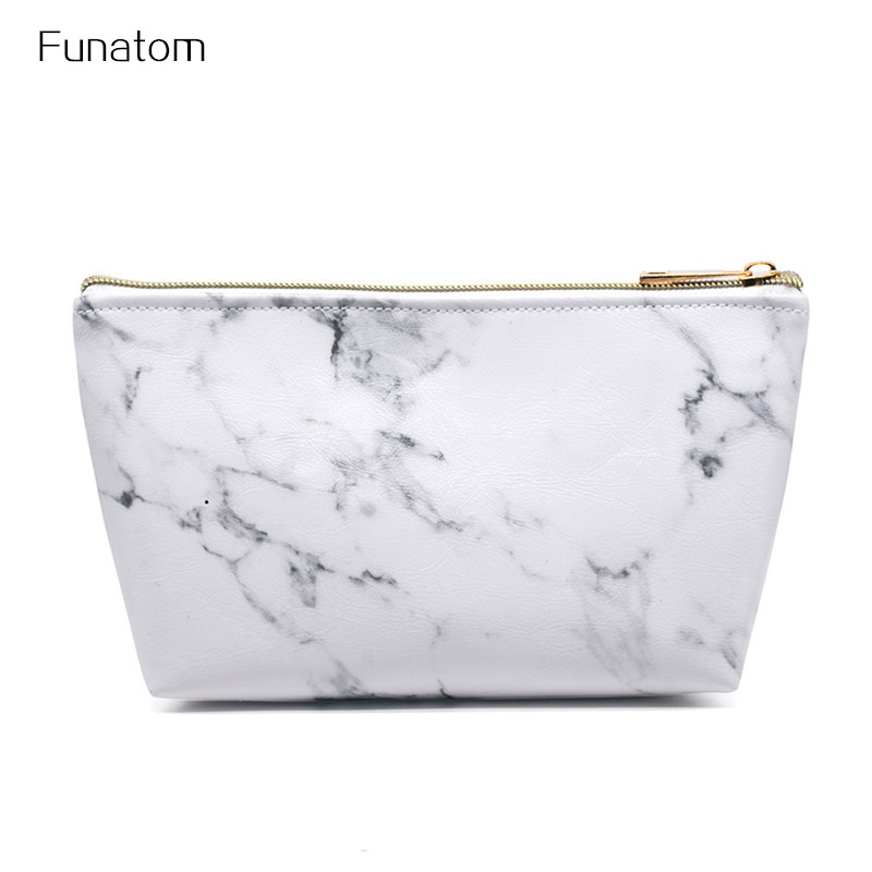 Portable Travel Leather Cosmetic Bag Women Casual Ladies Cosmetic Bags Makeup Pouch Neceser Toiletry Organizer Case Pouch