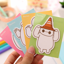 Post It Kawaii Sticky Notes Cartoon Big White Notas Cute Memo Pads 4 Style Point Marker  Stickers Paper Stationery