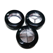 50pcs black plastic round eye shadow case with aluminum pan inside eyeshadow compact case eyeshadow container
