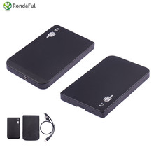 2.5 inch IDE SSD Mobile Disk Box Cases USB 2.0 HDD Hard Drive External Enclosure hard drive hdd for laptop Windows/Mac os Safe