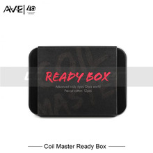 100% Original Coil Master Ready Box for Coil rebuilding Coil building Fused Clapton/Clapton Parallel/Triple Clapton With Cotton