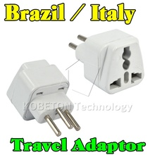 Portable Travel Power Adapter Plug Wall Charger Socket EU AU US UK to Brazil Italy Plug Universal 3 Round Pin Home Converter 10A