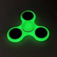 Top Lighting White ABS Plastic Hand Spinner For Autism Stress Relief Light-Up Toy fidget Spinner glow in the dark