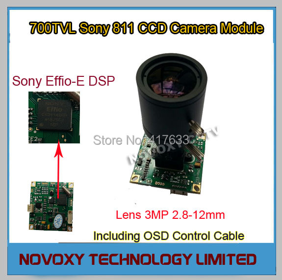DIY 700TVL 2.8-12mm Varifocal Lens Sony 811 CCD+Effio-E DSP Analog CCTV PCB Board Camera Module OSD Control Cable Free Shipping<br><br>Aliexpress
