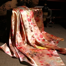 Fashion Women large satin towel soft scarf / Autumn and winter beautiful Printing silk scarves 70*165cm / Wholesale
