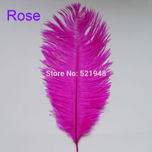 High  Quality! 10pcs Natural Feathers  Rose Color Ostrich Feathers 15-20cm /  6-8Inch For DIY Decoration