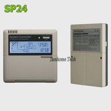 Solar Water Heater controller SP24,110/220V,LCD display,3 sensors input,2 relays and 1 auxiliary heating outputs(China)