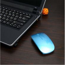 Ultra Thin USB Optical Wireless Mouse 2.4G Receiver Super Slim Mouse For Computer PC Laptop Desktop 6 Candy color(China)