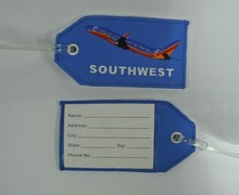 Embroidered Luggage Tag SOUTHWEST Airplane