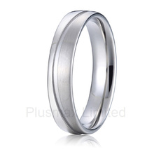 high quality anel masculino Private new design engrave groove mens titanium rings for wedding