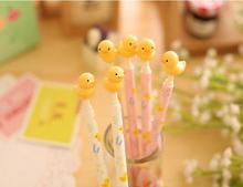 Cute Yellow Duck design ballpoint pen/Rilakkuma friends roller pens/0.5MM Blue/zakka gift school supplies stationery/retail