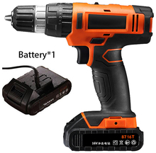 16V Electric Drill Power Tool Lithium Battery Impact drill Hammer Cordless Drill wall wood metal hand drill Electric Screwdriver