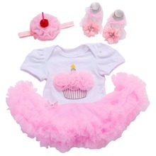 Summer New Born Baptism Baby Girl Dress;Tutu Summer Wedding Baby dress Party;Princess 1 year Birthday Dress Vestido Bebe #L100(China)