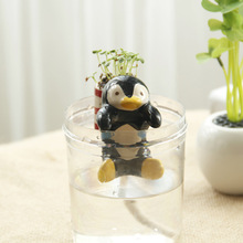 Eco-e garden Meng pet tail water potted grass doll small animal automatic water potted plants wholesale(China)