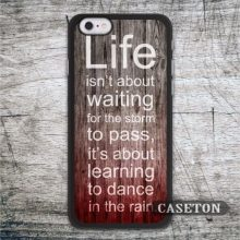 Life Quote On Red Wood font b Case b font For font b iPhone b font