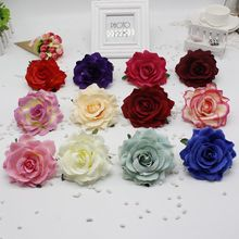 10pcs/lot  pieces 10 cm cheap silk flower rose artificial flower wedding dress diy car flower garland material fake flowers