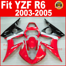 Body parts for YAMAHA R6 fairing kits 2003 2004 2005 red white black YZF R6 fairing kit 03 04 05 B65