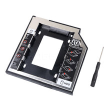 Universal 2nd 2.5 HDD Caddy 9.5mm SATA to SATA Hard Drive Adapter HDD Enclosure Case For Laptop CD DVD Optical Drive Bay