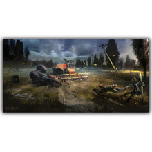 Living Room Home Wall Decoration Silk Fabric Poster S.T.A.L.K.E.R. 2 Call of Pripyat Radioactive Video Games YX1200