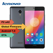 "Original Lenovo Vibe P2 A42 5.5"" FHD Gorilla Glass android 7.0 4G TD LTE smartphone 4GB RAM 64GB ROM 13MP TOUCH ID NFC 5100mAh"