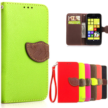 For Nokia Lumia 630 Case Colorful Luxury Leather Wallet flip Phone Case Cover For Nokia Lumia 630 635 / Dual SIM With Card Slots