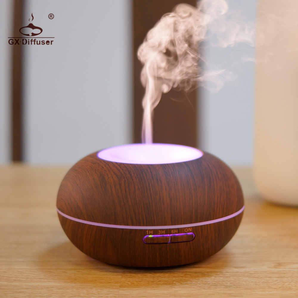 GX.Diffuser 2017 New Changing Color LED Aromatherapy Diffuser Air Humidifier Ultrasonic Aroma Diffuser Essential Oil Mist Maker<br>