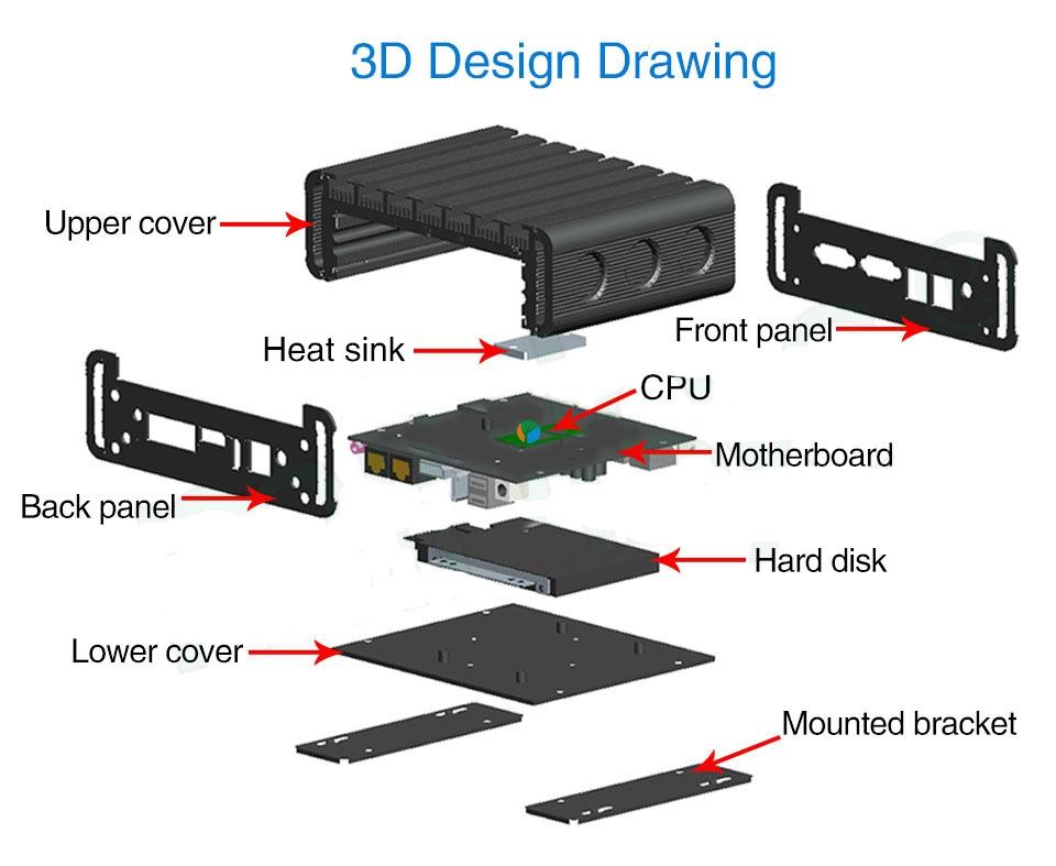 Mini PC i3 6100U i5 6200U (12)