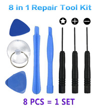 1 Set 8 in 1 Repair Pry Tool Kit Spudger Opening Ferramentas Tools Pentalobe 5 Point Screwdriver For iPhone For iPad CellPhone