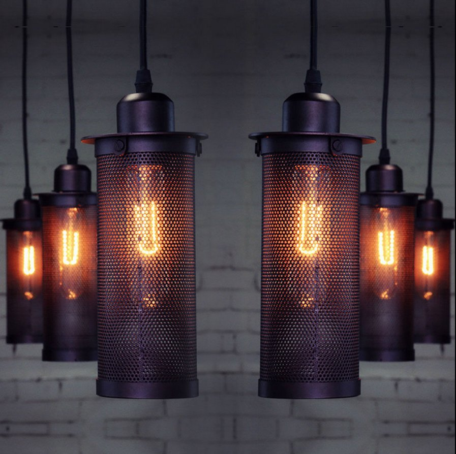 Industrial Iron Sconce Pendant Lamp Bar And Restaurant Vintage Fixture Led Lamp E27 Diy Industrial Pendant Light<br>