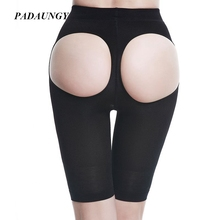 PADAUNGY Butt Lifter Capris Tummy Control Panties Slimming Underwear Bodyshaper Plus Size Shapewear Butt Enhancer Hot Shapers