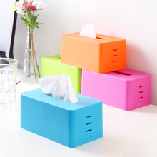 Colorful stepped tissue boxes, base adjustable lifting tissue pumping storage box K1779